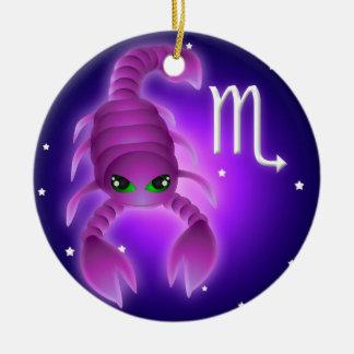 Cute Scorpio Zodiac Ceramic Ornament