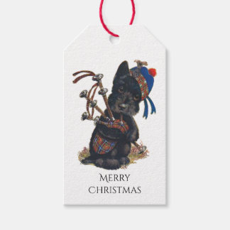 Cute Scottie Playing Bagpipes Gift Tags