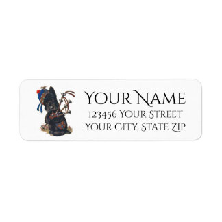 Cute Scottie Playing Bagpipes Personalize
