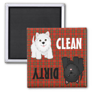 Cute Scottish Terrier Puppy Dogs Dishwasher Magnet