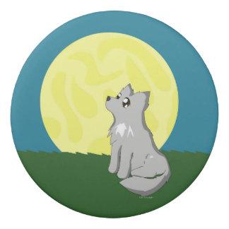 Cute Scruffy Wolf with Moon Eraser