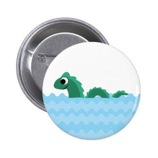 Cute Sea Monster 2 Inch Round Button