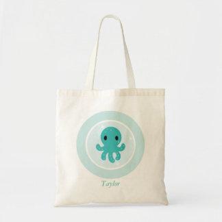 Cute Sea Octopus Kids Tote Bag