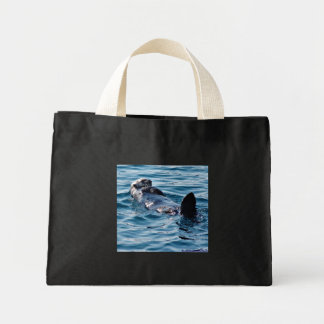 Cute Sea Otter floating recycle bag