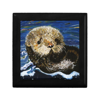 Cute Sea Otter Keepsake Boxes