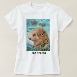 """Cute Sea Otters"" T-Shirt"