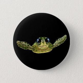 Cute sea turtle 2 inch round button