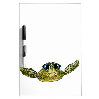 Cute sea turtle dry erase whiteboards
