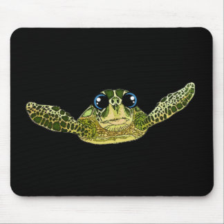 Cute sea turtle mouse pad