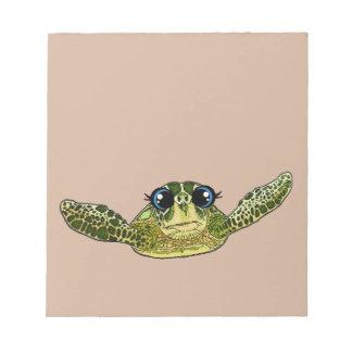 Cute sea turtle notepad