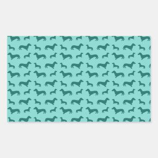 Cute seafoam green dachshunds sticker