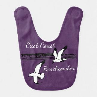 Cute Seagull Beach East Coast Beachcomber baby bib