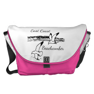 Cute Seagull Beach East Coast Beachcomber bag pink Messenger Bag