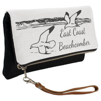 Cute Seagull Beach East Coast Beachcomber clutch