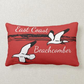Cute Seagull Beach East Coast Beachcomber pillow