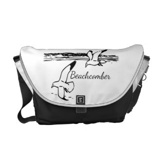 Cute Seagull Coastal Beach  Beachcomber   bag Commuter Bag