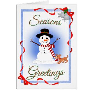 Cute Seasons Greetings Card