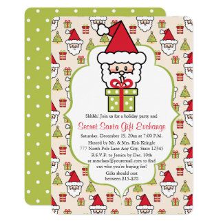 Cute Secret Santa Christmas Party Card