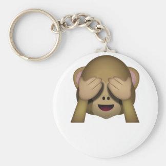 Cute See No Evil Monkey Emoji Keychain