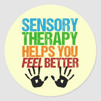 Cute Sensory Therapy OT Handprints Round Sticker