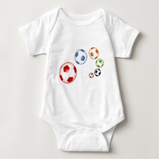 Cute set of soccer balls baby bodysuit