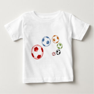 Cute set of soccer balls baby T-Shirt