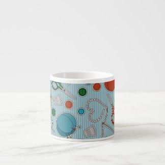 Cute Sewing Themes Pattrn Blue