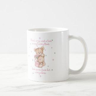 Cute Shabby Watercolor Teddy Bear Coffee Mug