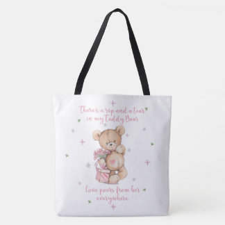 Cute Shabby Watercolor Teddy Bear Tote Bag