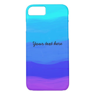 Cute shades of blue typography cool iPhone 7 case