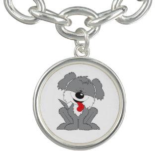 Cute Shaggy Puppy Cartoon Charm Bracelet