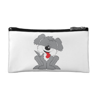 Cute Shaggy Puppy Cartoon Cosmetic Bag