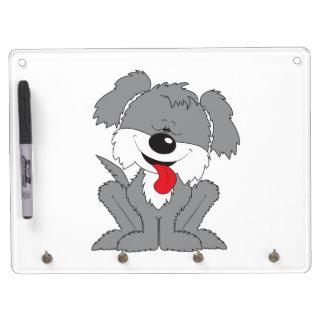 Cute Shaggy Puppy Cartoon Dry Erase Board
