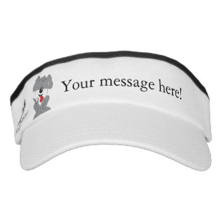 Cute Shaggy Puppy Cartoon Visor