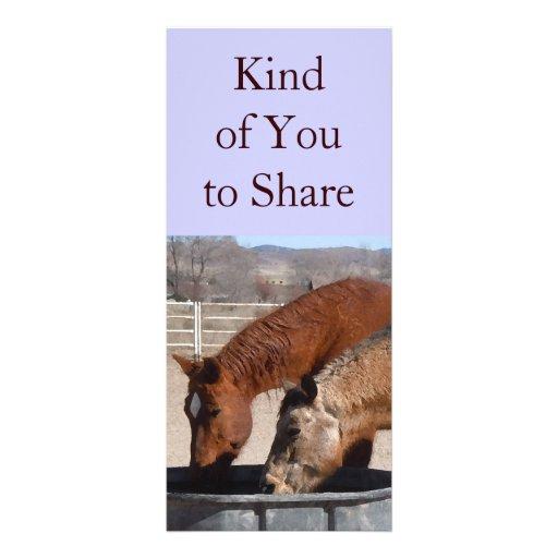 Cute Sharing is Fun Horse Western Bookmarks Rack Card Design