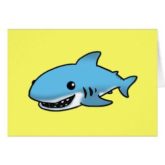 Cute shark card
