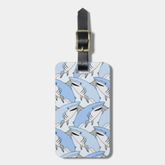 Cute Shark Pattern Luggage Tag