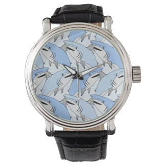 Cute Shark Pattern Wrist Watch