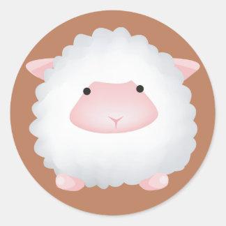 Cute Sheep Classic Round Sticker