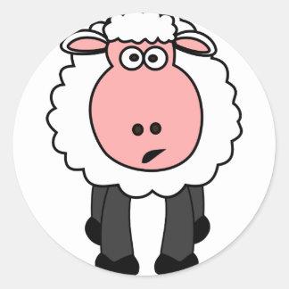 Cute Sheep Design Classic Round Sticker
