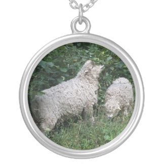 Cute Sheep Eating Leaves Necklace