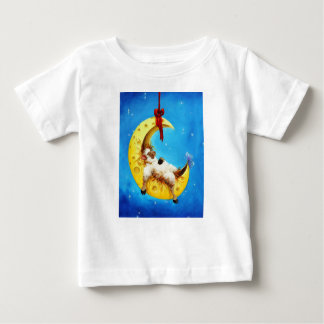 Cute Sheep in the Moon Sheep Incognito Nursery Baby T-Shirt