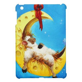 Cute Sheep in the Moon Sheep Incognito Nursery iPad Mini Covers