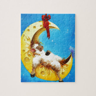 Cute Sheep in the Moon Sheep Incognito Nursery Jigsaw Puzzle