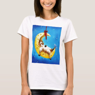 Cute Sheep in the Moon Sheep Incognito Nursery T-Shirt