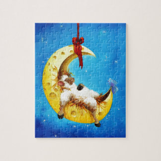 Cute Sheep in the Moon Sheep Incognito PUZZLE