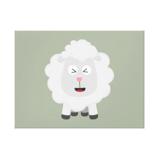 Cute Sheep kawaii Zxu64 Canvas Print