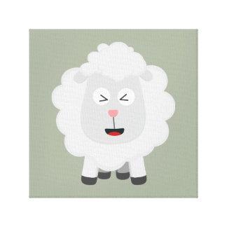 Cute Sheep kawaii Zxu64 Canvas Print