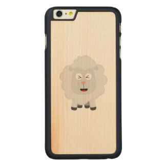 Cute Sheep kawaii Zxu64 Carved Maple iPhone 6 Plus Case