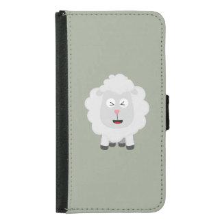 Cute Sheep kawaii Zxu64 Samsung Galaxy S5 Wallet Case